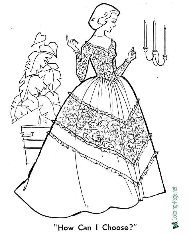Wedding Bride Coloring Pages