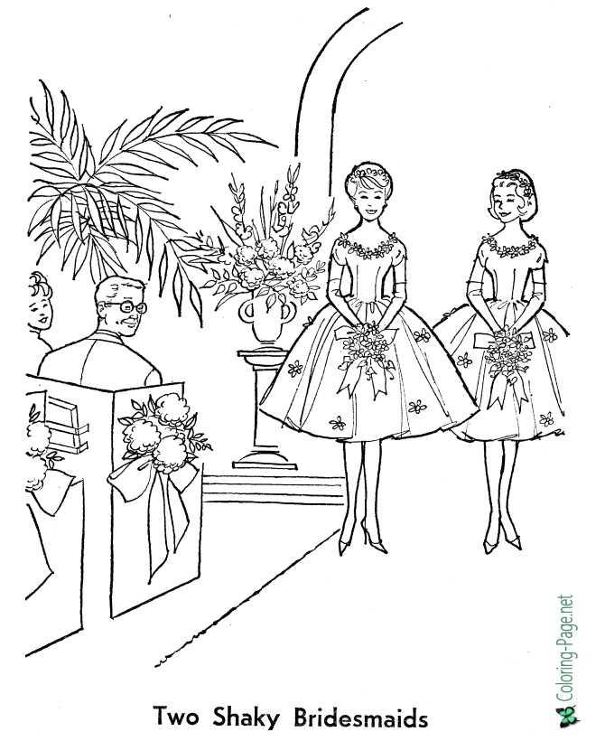- Wedding Bride Coloring Pages