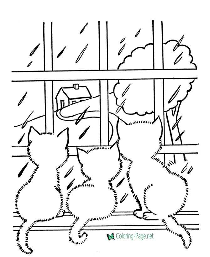 cats to color and print