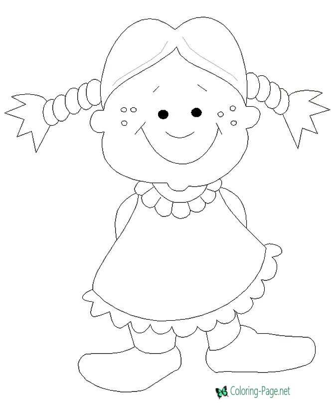 Children Coloring Pages Girl