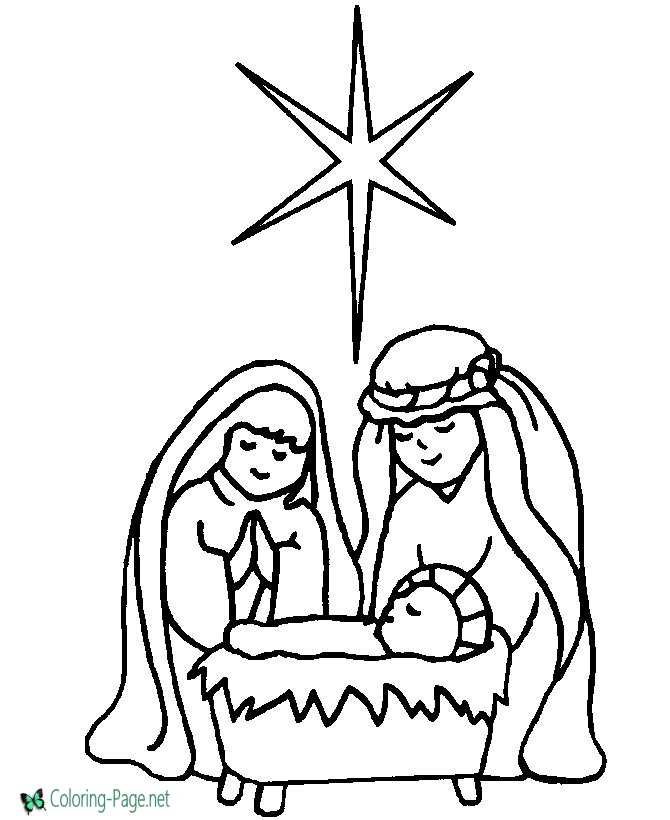 Scene Christian Coloring Pages