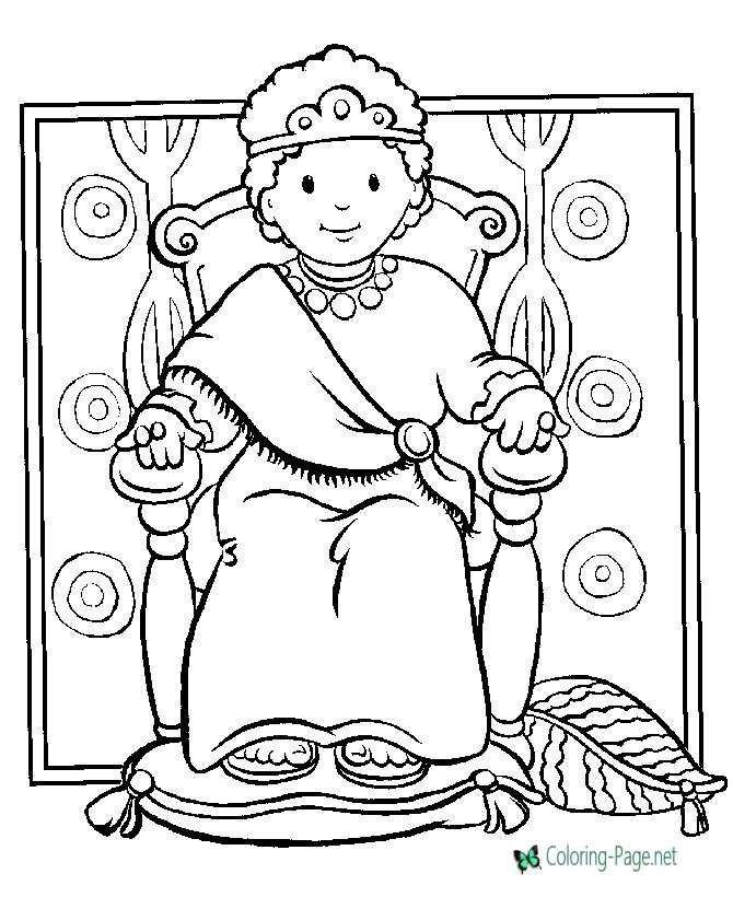 Christian Coloring Pages Boy King David