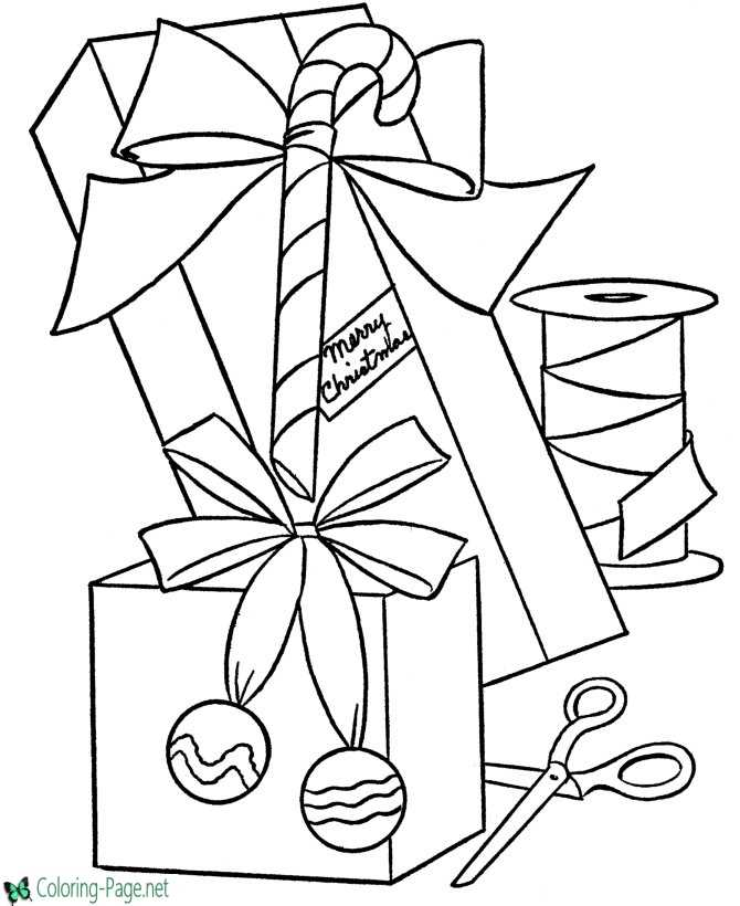 christmas presents coloring pages