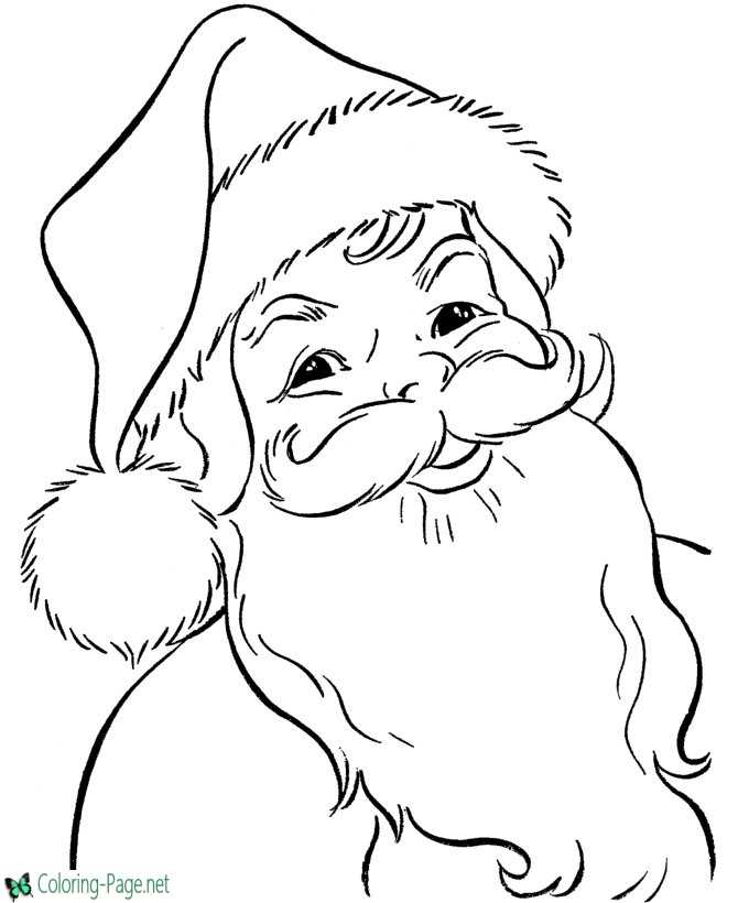 Christmas coloring page - Santa Claus