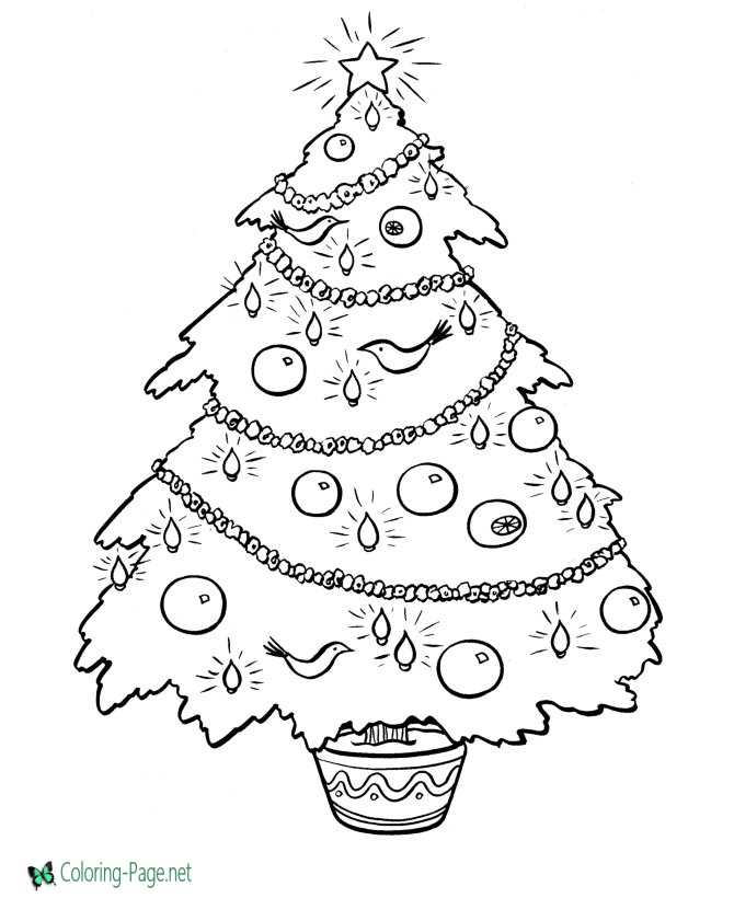 image regarding Printable Christmas Tree Coloring Pages called Printable Xmas tree coloring webpage