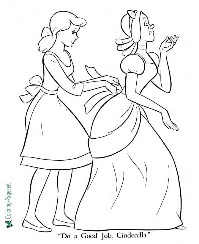 Cinderella Fairy Godmother Coloring Pages - Get Coloring Pages | 820x670