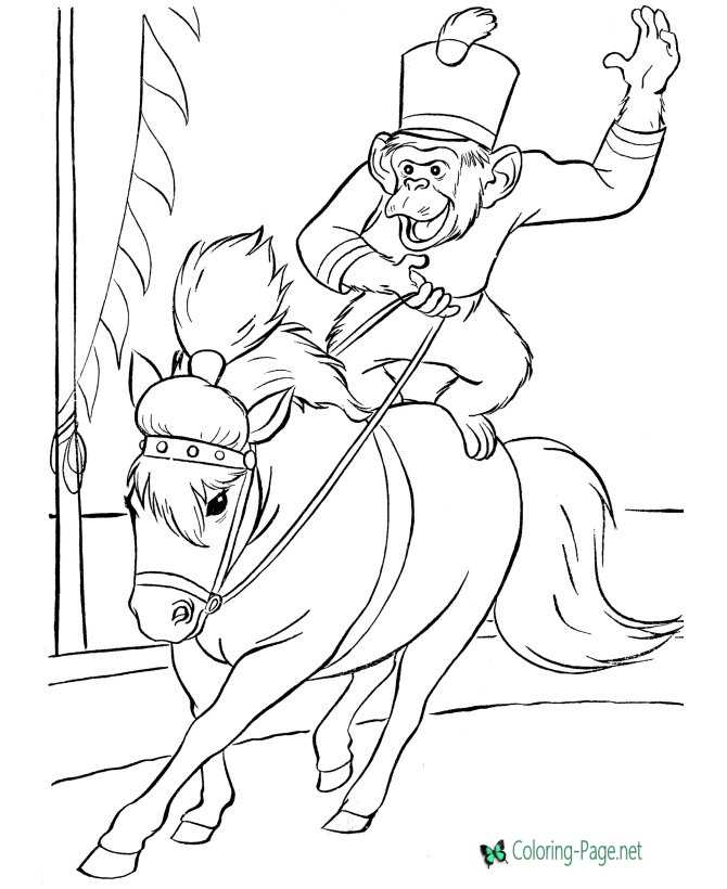kids circus coloring page