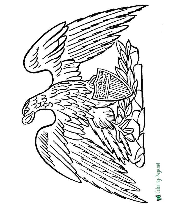 national symbols coloring pages - photo#3