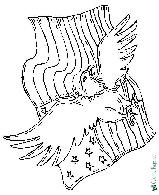 print eagle coloring page