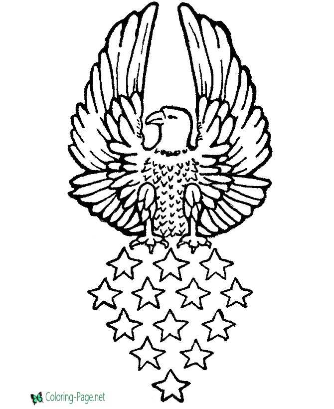 eagle printable coloring page