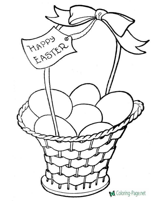 graphic regarding Easter Basket Printable identify Easter Basket Coloring Web pages