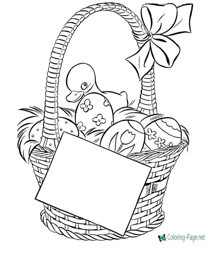 photo about Printable Easter Basket referred to as Easter Basket Coloring Internet pages