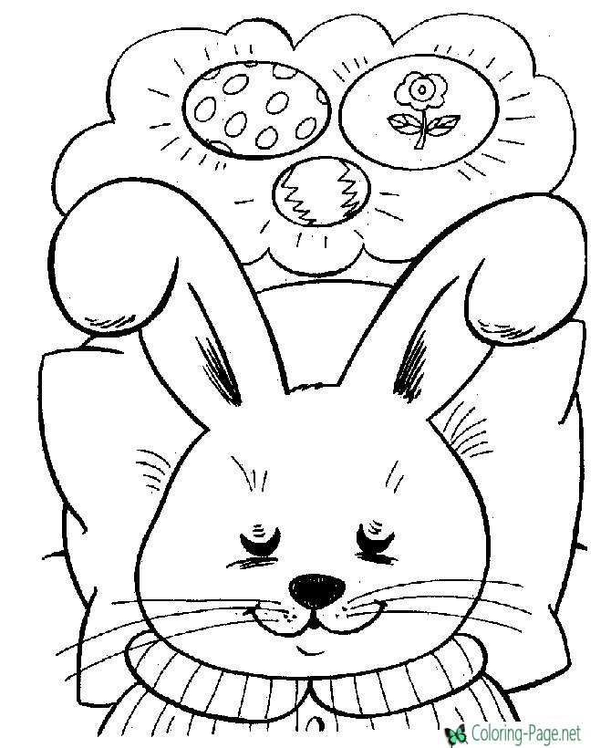 Easter Coloring Pages Bunny Dreams