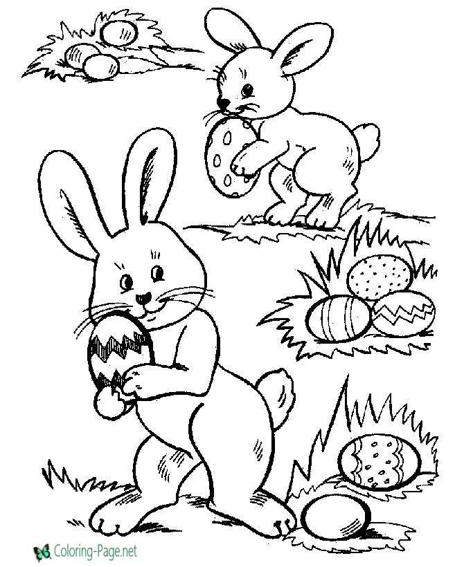 Easter Coloring Pages Hiding Easter Eggs