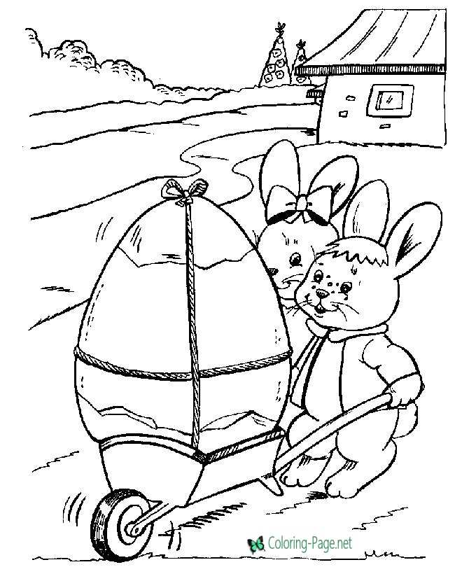 Bunny Eggs Easter Coloring Pages
