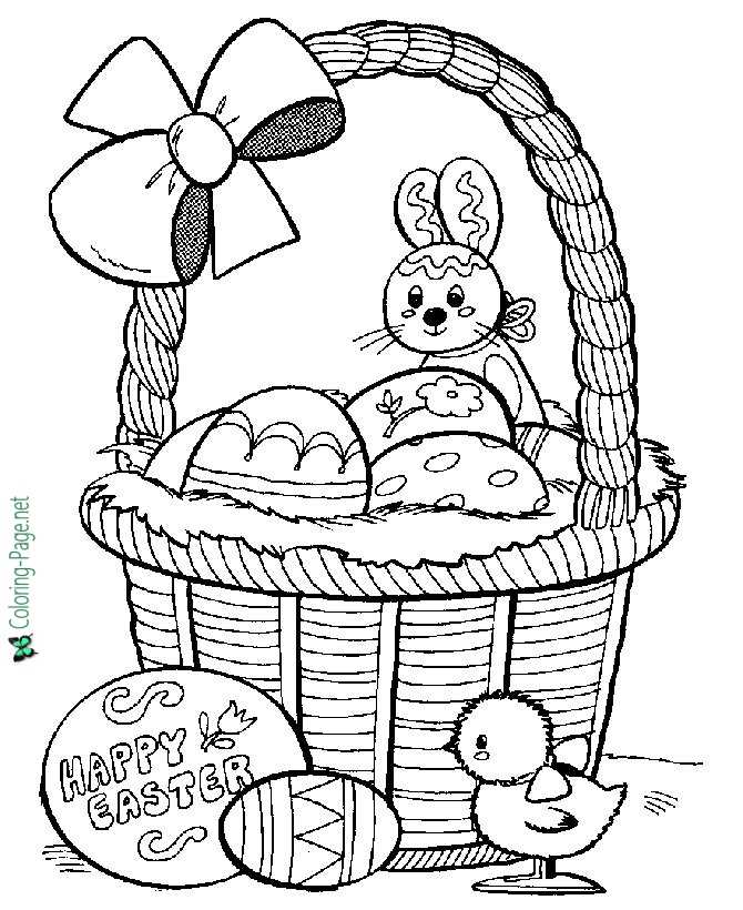 picture about Easter Printable called Printable Easter coloring webpages