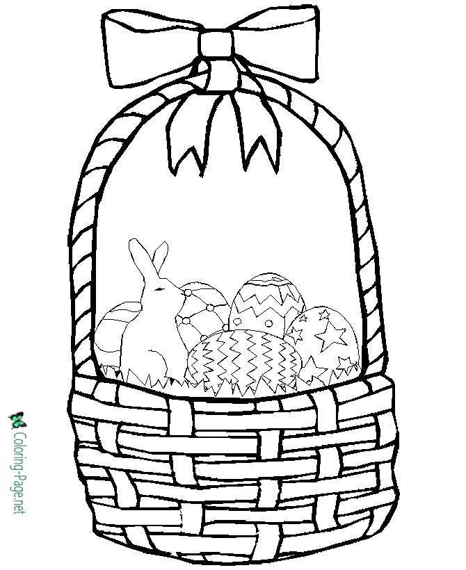 printable easter basket coloring page - Coloring Pages Easter Baskets