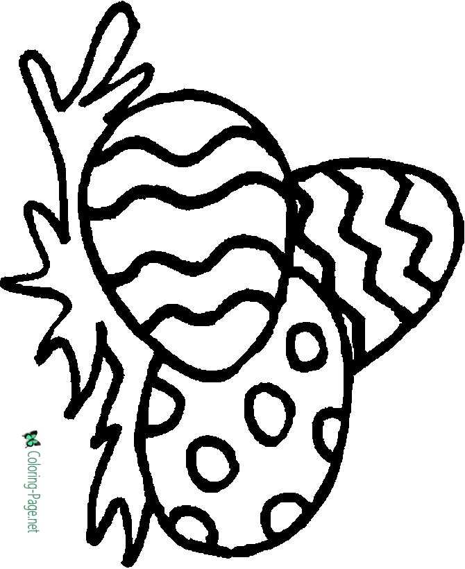 Preschool Easter Egg Coloring Page