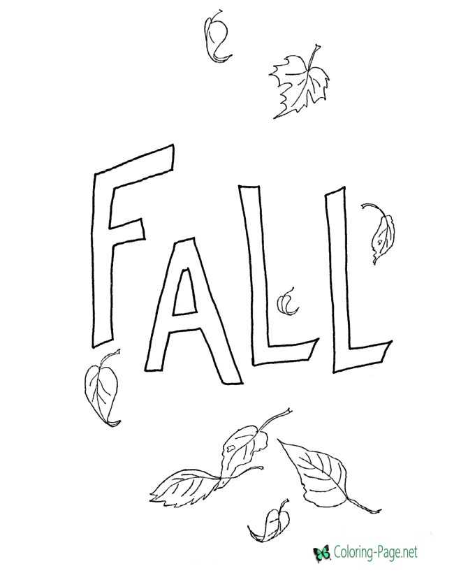 print fall coloring page