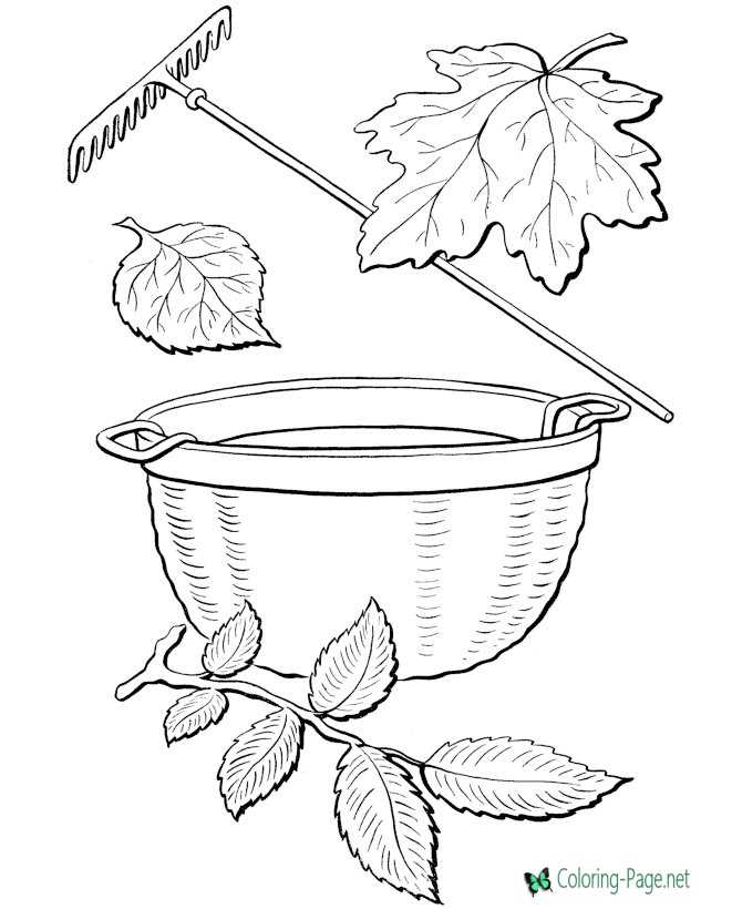 fall kids coloring page