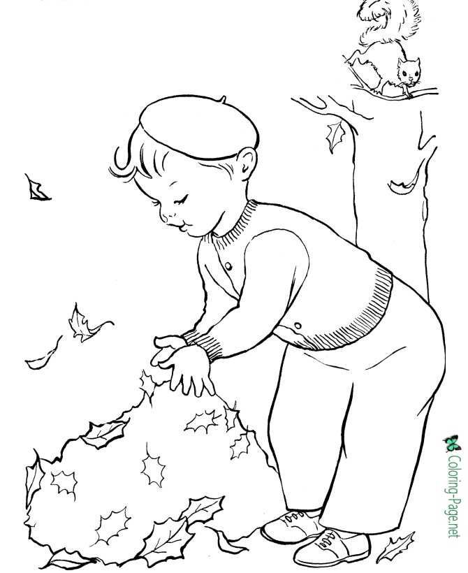 Fall Coloring Pages Leaf Page