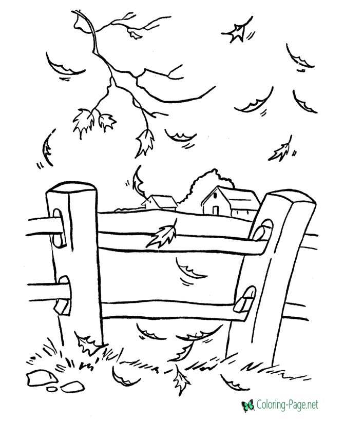 Fall Coloring Pages to Print and Color