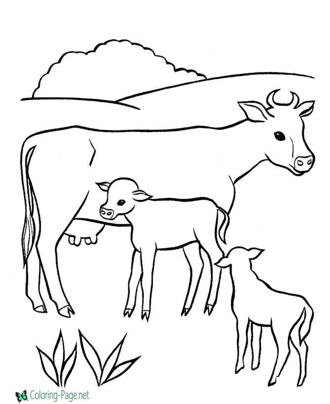 kids farm coloring page