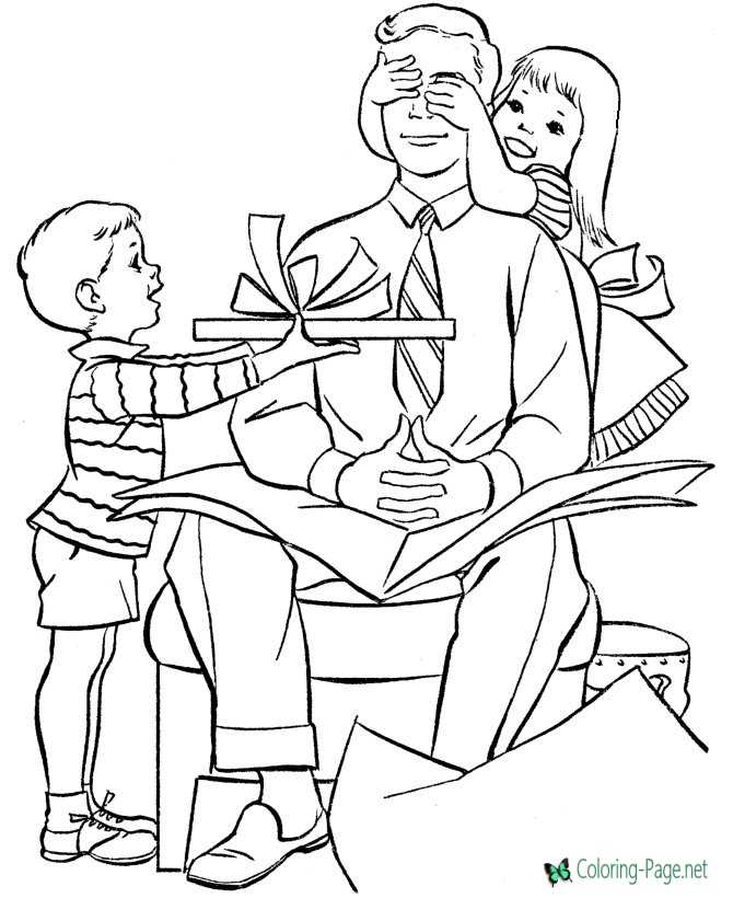 Free Printable Father´s Day Coloring Pages
