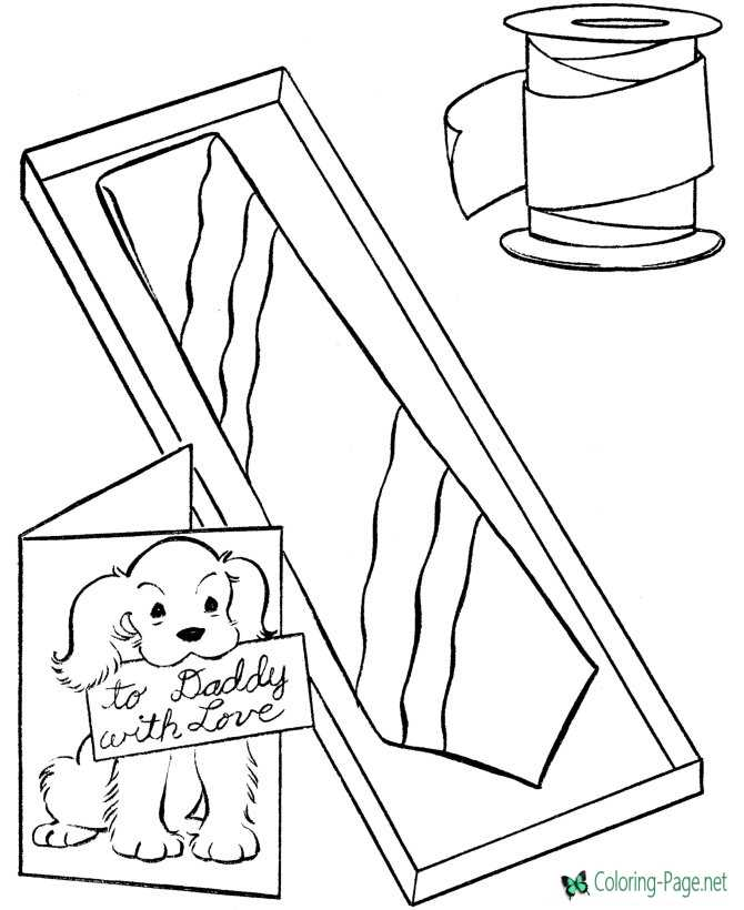 Father´s Day coloring page