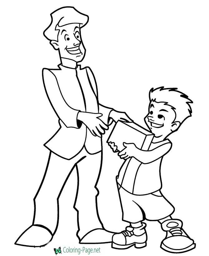 Happy Father´s Day Coloring Pages
