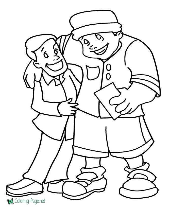 Father´s Day Coloring Pages Print and Color