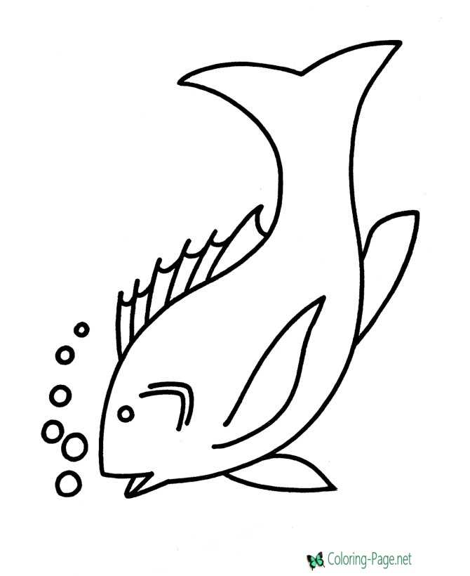 printable fish sheets to color