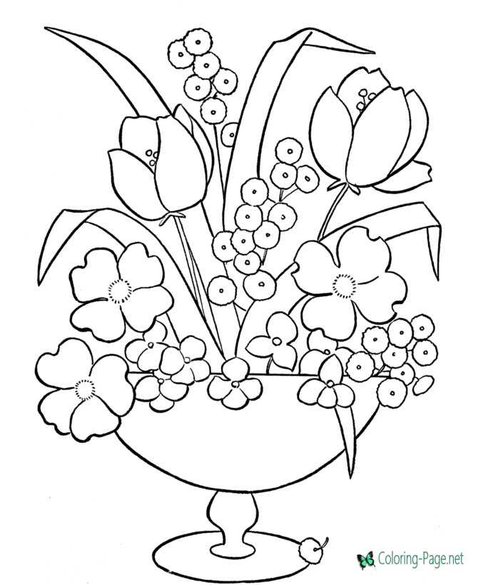 photograph relating to Printable Flower Coloring Pages named Flower Coloring Web pages
