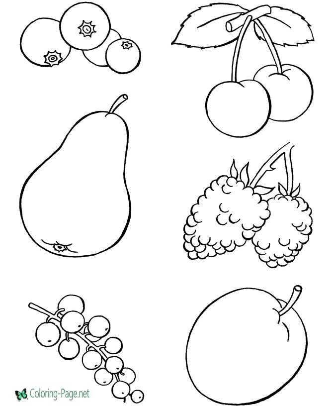 healthy snacks coloring page | Fruit coloring pages, Fruit of the ... | 820x670