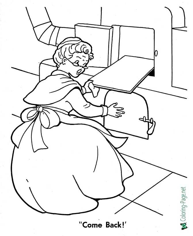 Gingerbread Man coloring page for children