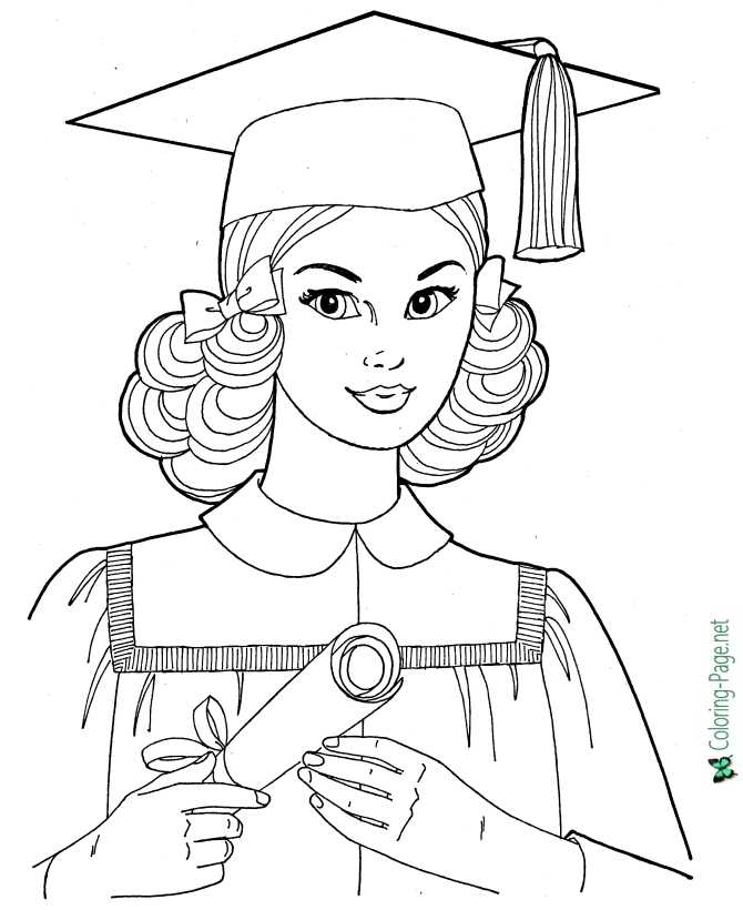 Girls At School - Coloring Pages For Girls