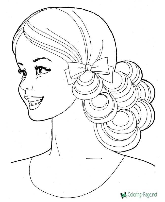printable coloring page for girls