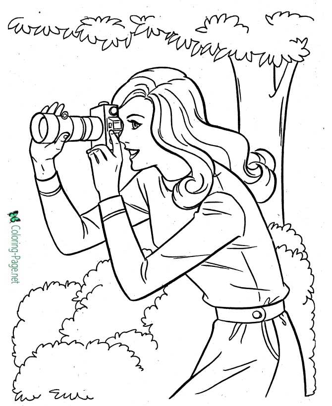 sports coloring page for girls