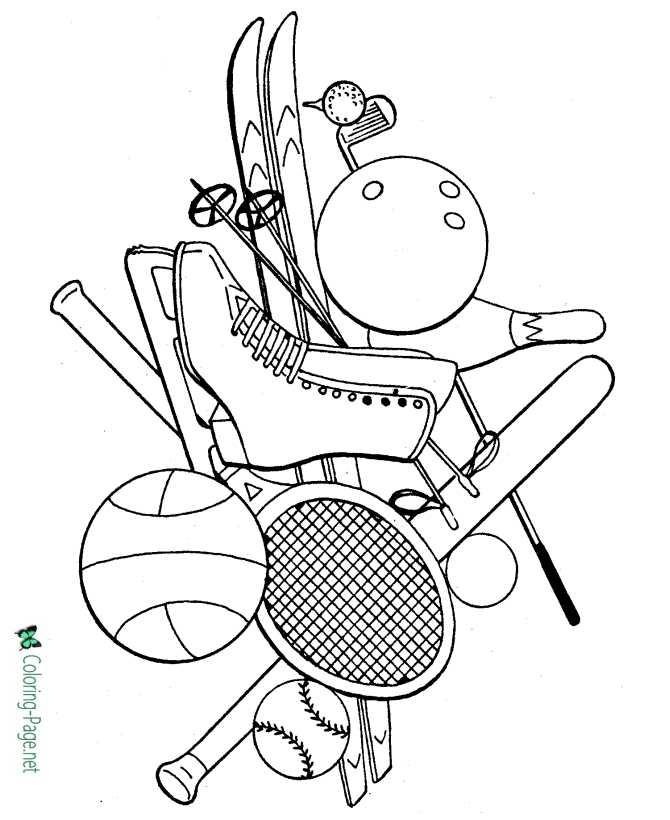 coloring page for girls of sports