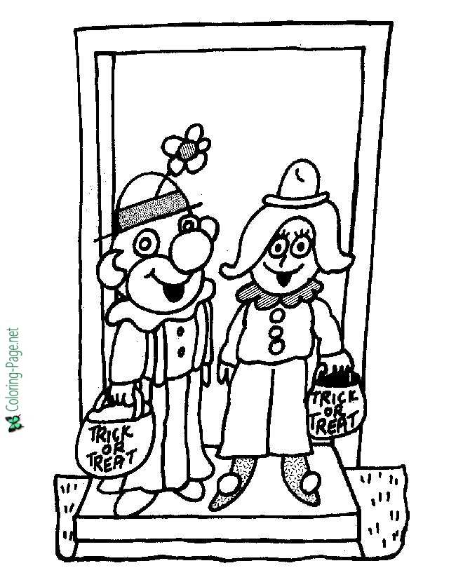 Funny Costumes Halloween Coloring Pages