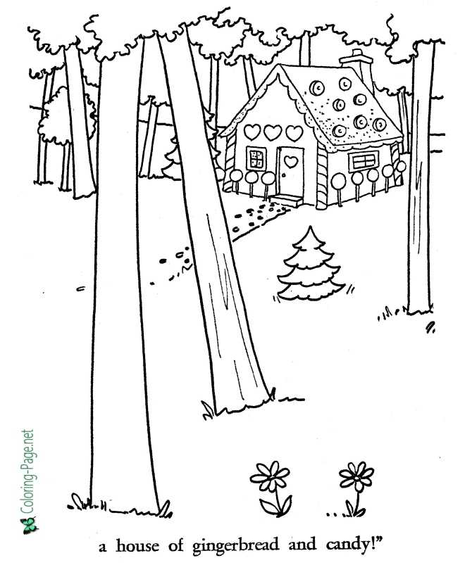 printable Witch from Hansel and Gretel coloring page