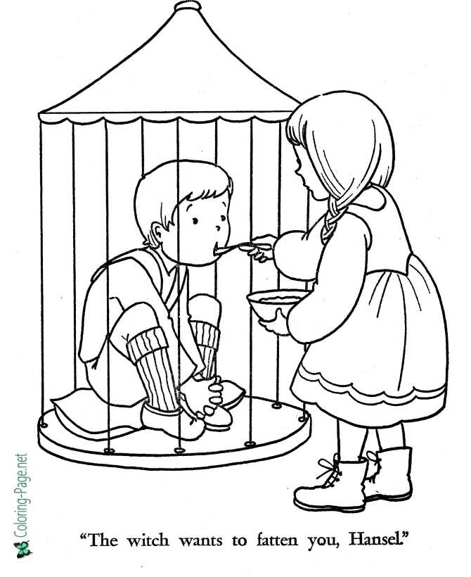 printable Gretel coloring page