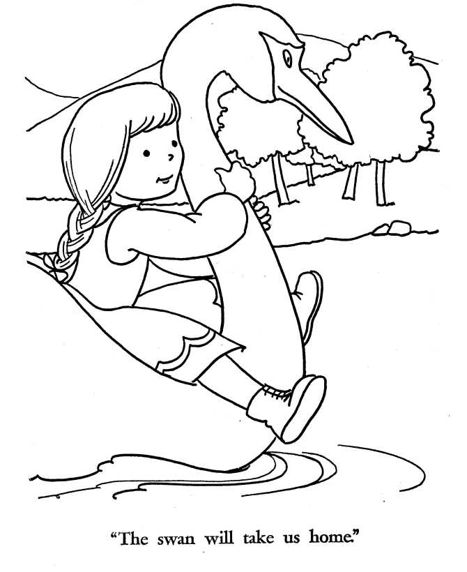 printable Hansel and Gretel coloring page