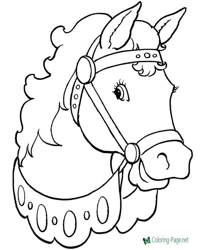 picture regarding Printable Horse Picture titled Horse coloring internet pages toward print
