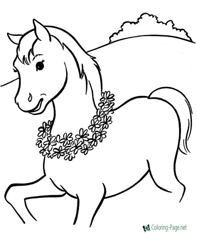 photo about Printable Horse Pictures known as Horse coloring webpages towards print
