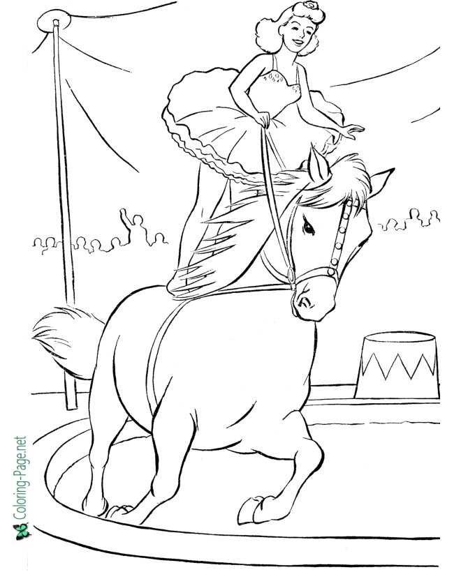 Circus Horse Coloring Pages