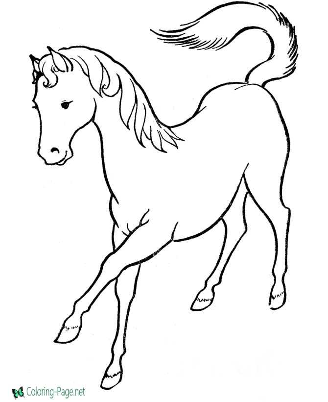 Mare Horse Coloring Pages