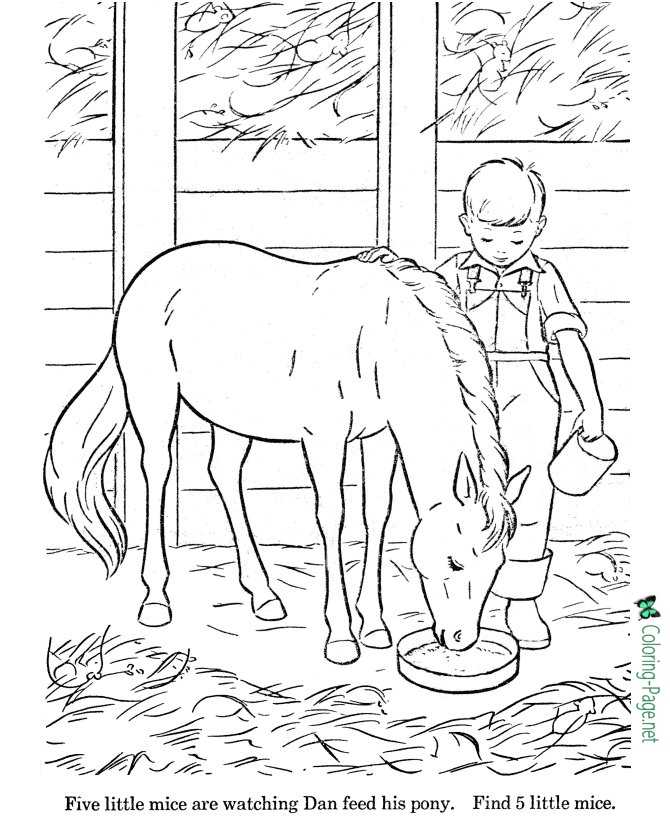 Horse Coloring Pages Worksheet