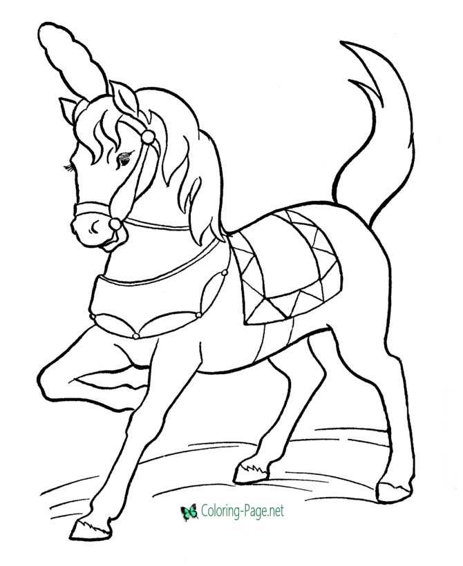Horse Coloring Pages Circus Horses