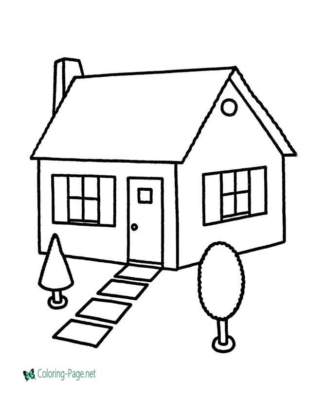 image regarding Printable House titled Room Coloring Webpages